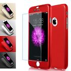 Hybrid 360° Shockproof Case Tempered Glass Cover Apple iPhone 8 7 5S 6S SE 8plus
