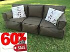 Sofa Bean Bag 3 Person Couch - 60% OFF KHAKI DEAL Indoor Outdoor Water Resistant
