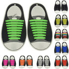 16x Colourful Men Women Lazy Shoe Laces No Tie Shoelace Silicone Elastic Sneaker