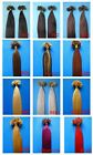 """200S Nail Tip 100%Real Remy Human Hair Extension 16"""" Straight Black Brown Blonde"""