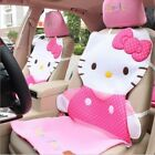 Universal Hello Kitty Pink Dot Car Seat Covers Front Rear Cover Accessory Sets