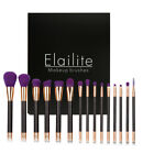 Health Beauty - Professional 15PCs Makeup Brush Set Powder Cosmetic Tool Synthetic Black Purple