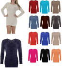 Soft Touch Smooth Fluffy Jumper Round Neck Fur Sweater Top