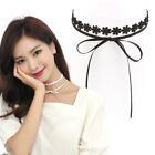 Ribbon and Lace Layered Choker Necklace Made in Korea