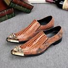 hot Mens breathable Leather Pointed Toe Dress Formal wedding dating Shoes size