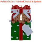 MAXORA Bear Family 2 3 4 5 Personalized Christmas Ornaments DO-IT-YOURSELF