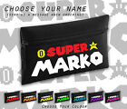 Super Mario Nintendo Font Any Name Personalised Cool Black Pencil Case School