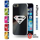 Superman Action Figure Logo Engraved CD Phone Cover Case - iPhone & Samsung