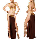 Princess Leia Slave Fancy Dress Adult Women Sexy Star Wars Bikini Costume Outfit $24.99 AUD