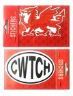 NEW WALES CYMRU CLASSIC WELSH DRAGON/CWTCH SELF ADHESIVE GIFT SOUVENIR STICKER