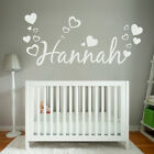 [WD101006E] Personalised Name Wall Sticker with Hearts