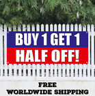 BUY 1 GET 1 HALF OFF Advertising Vinyl Gonfalon Flag Sign Discount Sale Promotion