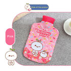 Kid Cartoon Hot Water Bottle Warming Bag Velvet Cover Heater Cold Heating Therma