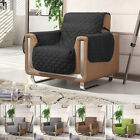 Quilted Sofa Slipcover Removable Throw Couch Settee Pet Protector 1 Seater