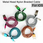 For iPhone 5 6 6s 7 7s 8 Strong Nylon Braided Usb Charger Sync Cable Lead 8 pin