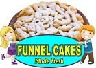 Funnel Cakes DECAL (Choose Your Size) Vinyl Sticker Food Truck Concession