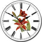 "Amarylis LARGE WALL CLOCK 10""- 48"" Whisper Quiet Non-Ticking WOOD HANDMADE"