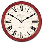"Carolina Red LARGE WALL CLOCK 10""- 48"" Whisper Quiet Non-Ticking WOOD HANDMADE"