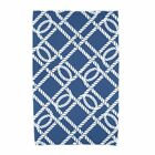 E by Design Nautical Nights Know the Ropes Beach Towel