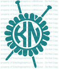 Custom Yeti Sized Knitting Needles Yarn &  Monogram Vinyl De