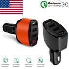 Quick Charge 3.0 Car Charger QC3.0 3 Port USB Cigarette Lighter Voltage Adapter
