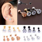 SEXY Rose Gold Plated Artificial Gem Tragus Cartilage Bar Earring Stud Jewelry