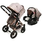 Pro Baby Stroller High View Pram Luxury Foldable Pushchair Bassinet & Car Seat