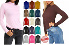 LADIES Ex RIVER ISLAND POLO TURTLE ROLL HIGH NECK RIBBED JUMPER PARTY TOPS SIZE
