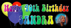 Large Personalised Birthday Banner Decorations 18th/21st/30th/50th/60th/70th/80