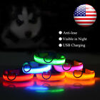 LED Dog Pet Collar Night Safety Light-up Flashing Glow in the Dark Lighted