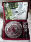 Mikasa Diamond Fire Wine Set, Bottle Holder & Stopper, Red Velvet Box
