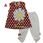 Baby Girls Outfits Clothes 2 Pc Shirt w Tunic Legging Size 3 6 9 12 18 24 Months