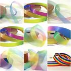 Rainbow Ombre Ribbons Crafts Tying Hair Cards Ribbon - Small Reels