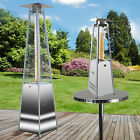 STAINLESS STEEL PATIO HEATERS PYRAMID GAS LPG BUTANE PROPANE TABLETOP OUTDOOR