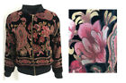 New F&F Bomber Jacket Size 6-20 Ladies Autumn Winter Black Red Velvet Paisley