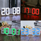 Large Modern Design Digital Led Skeleton Wall Clock Sleep Timer Desk Alarm Clock