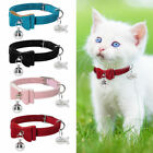 Cute Bowknot Personalized Kitten Cat Collars & ID Tags Engraved Free Red Pink XS