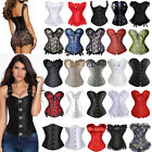 Bustier Corset Top Black Waist Training Basques Overbust Underbust S-4XL 5XL 6XL