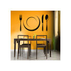Cutlery Set And Plate Dining Room Utensils Wall Stickers Home Kitchen Art Decals