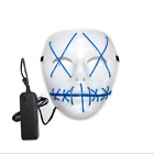 Halloween Purge Movie Flash LED Wire Scary Mask Party Festival Costume Luminous <br/> Fast shipping!! Sold 1000+ !! Popular !!