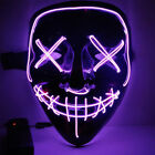 Halloween Purge Movie Flash LED Wire Scary Mask Party Festival Costume Luminous
