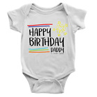 Stars Happy Birthday Daddy Babygrow Sweet Cute Body Suit Celebration Gift