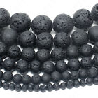 """Natural Lava Stone Volcano Beads Round 4mm 6mm 8mm 10mm 12mm 14mm 15.5"""" Strand"""