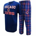MLB Men's Chicago Cubs Halftime Pajamas Shirt & Pants Sleep Set