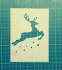 Christmas Reindeer Stars STENCIL silhouette /windows, Christmas greeting cards
