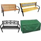 3 SEATER WOODEN / METAL GARDEN PATIO BENCH SEAT OUTDOOR PARK SEAT LATTICE/ROSE