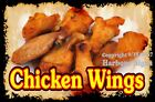 DECAL Choose Your Size Chicken Wing Food Sticker Restaurant Concession