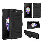 Fashion Hard Armor Shockproof Case+Belt Clip Holster Case Cover For One Plus 5