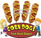 Corn Dogs DECAL (CHOOSE YOUR SIZE) Fresh Hand Dipped Food Concession Sticker