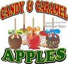 Candy & Caramel Apples DECAL (CHOOSE YOUR SIZE) Food Truck Concession Sticker